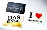 Warsteiner Bier, 3 x Frühstücksbrettchen, Schneidebrett Kochen, I Love, Das einzig Wahre