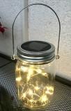 Schöfferhofer Weizenbier, 18 fach LED Solar Balkon Leuchte, Tischlampe, Hängeleuchte Einmachglas, warmweiß
