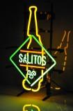 Salitos Tequila Bier, 3 Farben Neon Leuchtreklame, Leuchtwerbung Bottle RAR!!