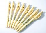 Dithmarscher Pilsener, 8 x Kugelschreiber / Stifte beige