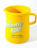 Johnnie Walker Blonde Whisky, Keramik Pitcher, Wasserkaraffe 300ml gelbe Ausführung
