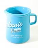 Johnnie Walker Blonde Whisky, Keramik Pitcher, Wasserkaraffe 300ml blaue Ausführung