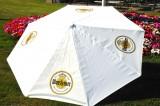 Warsteiner Bier, XXL Gastro Sonnenschirm, Sonnenschutz 250cm Durchm. Weiße Ausführung