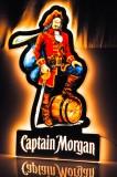 Captain Morgan Rum, LED Leuchtreklame, Leuchtwerbung auf Stativ mit Dimmerfunktion