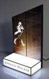 Johnnie Walker Whisky, LED Leuchtwerbung, Glorifier, Flaschenaufsteller, Leuchtreklame