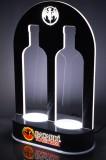 Bacardi Rum, LED Leuchtreklame, Zwillings Flaschenaufsteller, Glorifier, Flaschenleuchte mit Dimmerfunktion