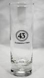 Likör / Licor 43 Glas / Gläser, Longdrinkglas, Perle im Fuß, Spanisch
