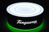 Tanqueray Gin, LED Leuchte, Leuchtreklame Akku Sockel für Flasche, USB Zugang , 220V Netzteil