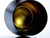 Carlos I Brandy, Schwarz satinierter Brandy Tumbler, Schwenker in Goldeinfassung