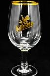 Hasseröder Glas / Gläser, Bierglas Ritzenhoff Tulpe, Goldrand 0,4l