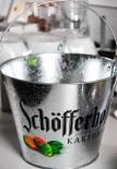Schöfferhofer Weizenbier Kaktusfeige Eiswürfeleimer / Flaschenkühler verzinkt