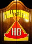 HB Zigaretten Dartboard / Dartscheibe in Echtholzgehäuse 70er Jahre , sehr selten