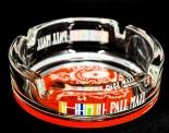Pall Mall Zigaretten Aschenbecher, transparent / rot