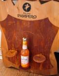 Pampero Rum Kerzenhalter/Flaschenhalter in Echtholz, sehr edel, 58 x 48cm