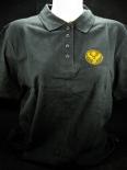Jägermeister Polo-Shirt woman, Gastro, schwarz/orange, Gr.XXS