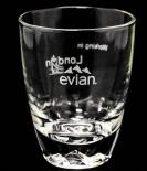 Evian Glas / Gläser Exclusive Stadtglas London mit Hologramm