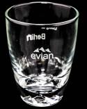 Evian Glas / Gläser Exclusive Stadtglas Berlin mit Hologramm