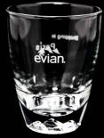 Evian Glas / Gläser Exclusive Stadtglas Paris mit Hologramm