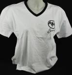 Bacardi Rum T-Shirt weiss, Gr. L mit V-Ausschnitt Cuba Libero