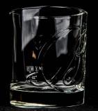 Ballantines Glas / Gläser, Whiskyglas, Tumbler oval, Relief Glas