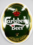 Carlsberg Bier, Werbeschild, Reklame, Wappen, Echtes Emaile