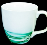 Dove Unilever Sammelbecher, Tasse, Becher, weiß/grün