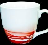 Dove Unilever Sammelbecher, Tasse, Becher, weiß/rot