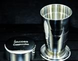 Jacobs Krönung Schüttelbecher / Becher, Cappuccino Kaffee, Edelstahl 250 ml