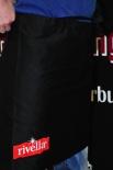 Rivella Bitroschürze, Schürze, Kellnerschürze schwarz 94x49cm mit Logo OVP
